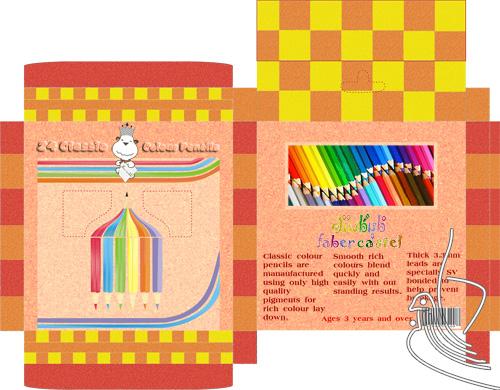 بسته بندی مداد رنگی